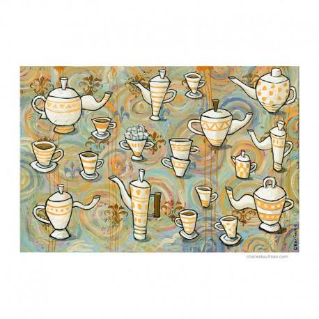 "Painting: ""Coffee or Tea"""