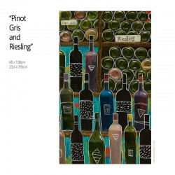 "Giclée Print on Canvas: ""Pinot Gris and Riesling"""