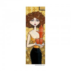 "Giclée Print on Canvas: ""Woman Serving Coffee"""