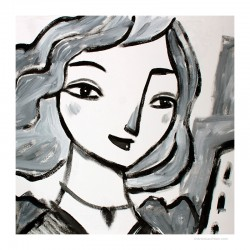 "Giclée Print on Canvas: ""Woman 2"""