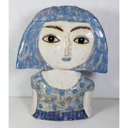 "Skulptur:  ""Woman in Blue"""