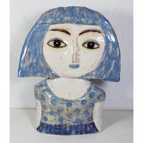 "Skulptur:  ""Woman in Blue"""