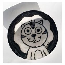 """Ceramic: """"Bowl - Happy Cat"""""""