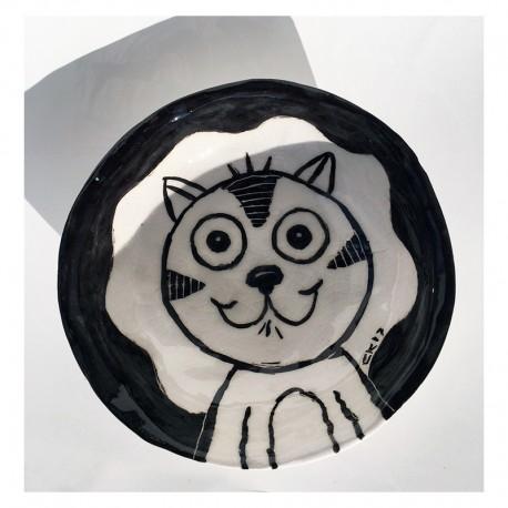 """Sculpture: """"Bowl - Happy Cat"""""""