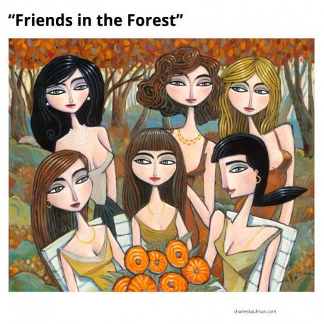 "3D Grafik: ""Friends in the Forest"""