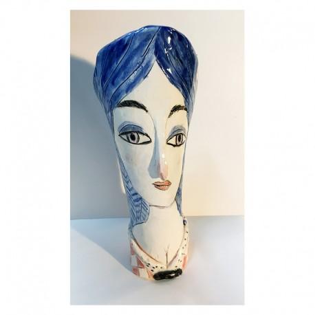 "Sculpture: ""Blue Hair"""