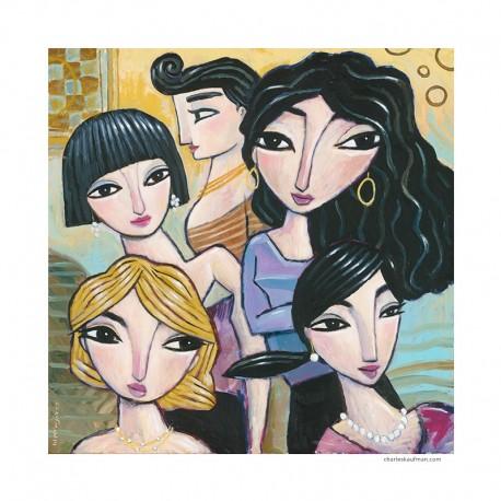"Gemälde: ""Five Women"""
