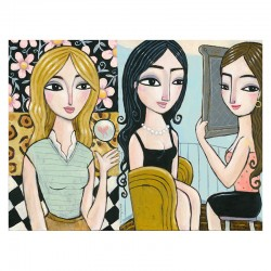 "Giclée Print on Canvas: ""Two Rooms, Three Women"""