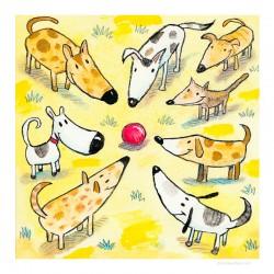 """3D Grafik: """"Eight Dogs, One Ball"""""""