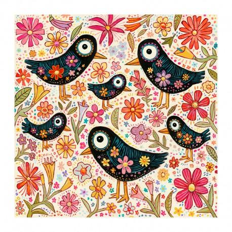 "3D Grafik: ""Birds and Flowers"""