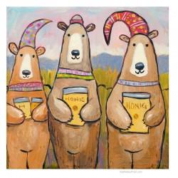 "3D Grafik: ""Three Bears and Honey"""