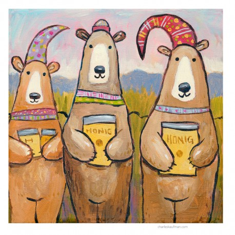 "3D Graphic: ""Three Bears and Honey"""