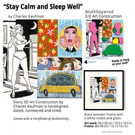 "3D Graphic: ""Stay Calm and Sleep Well"""