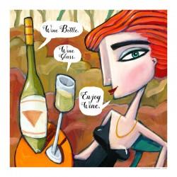 """3D Grafik: """"Enjoy Wine"""""""