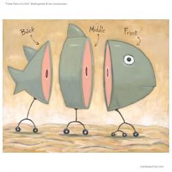 """3D Grafik: """"Three Parts of a Fish"""""""