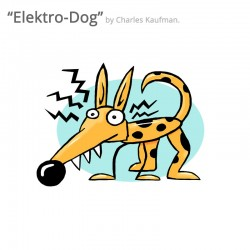 "3D Graphic: ""Elektro-Dog"". Plus FREE enamel pin!"