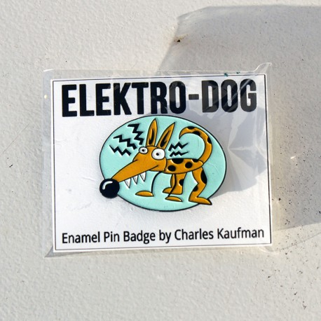 """Elektro-Dog"" Enamel Pin"