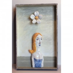 """Sculpture: """"Woman and Flower"""""""