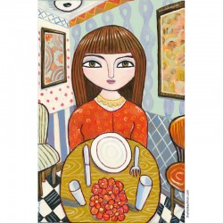 "Giclée Print on Canvas: ""Waiting to be Served"""