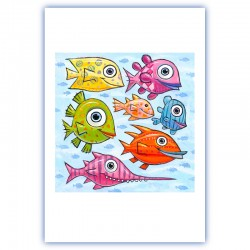 """Giclée-Druck auf FineArt Papier: """"Swimming North in the South Pacific""""."""