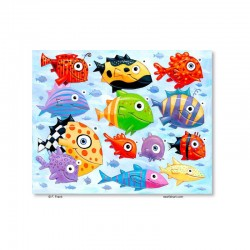 "Giclée-Druck auf Leinwand: ""Fish Art"""