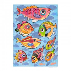 "Giclée Print on Canvas: ""Fish, Fish, Fish"""