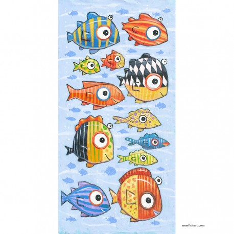"Giclée Print on Canvas: ""Happy Fish in the South Sea"""