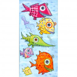 """Giclée Print on Canvas: """"Swimming in the Blue Lagoon"""""""