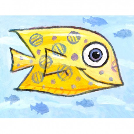 "Giclée Print on Fine Art Paper: ""Yellow Fish""."
