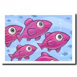 """Giclée-Druck auf FineArt Papier: """"Purple Fish"""""""