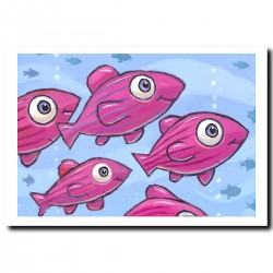 "Giclée Print on Fine Art Paper: ""Purple Fish"""