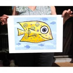 """Giclée-Druck auf FineArt Papier: """"Yellow Fish""""."""