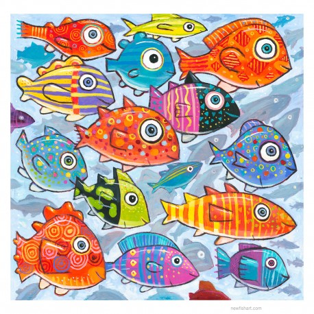"""Giclée-Druck auf FineArt Papier: """"Colorful Fish in the South Sea""""."""