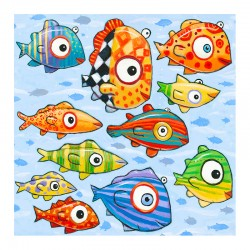 "3D Grafik: ""Happy Colorful Fish"""