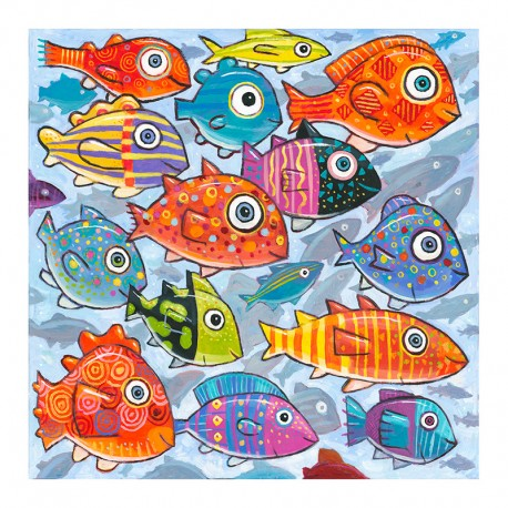 """3D Grafik: """"Colorful Fish in the South South Sea"""""""