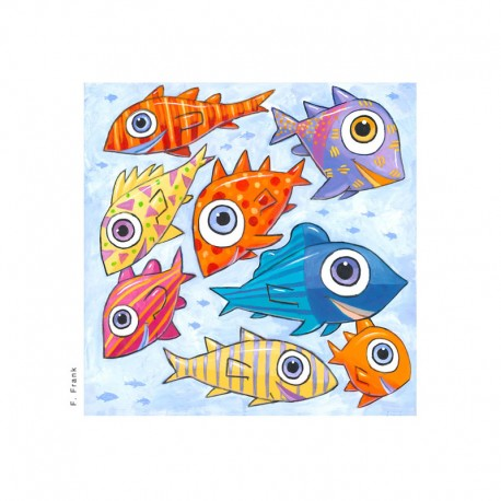 "3D Grafik: ""Fish Swimming West"""