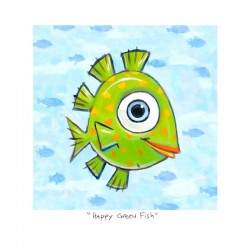 "3D Grafik:  ""Happy Green Fish"""