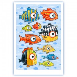 "Giclée-Druck auf FineArt Papier: """"Colorful Fish in the South South Sea"""""