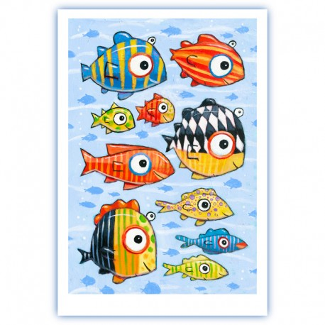 "Giclée Print on Fine Art Paper: ""Colorful Fish in the South South Sea"""
