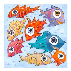 """3D Graphic: """"Fish Swimming West"""""""