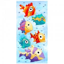 "3D Grafik: ""Six Colorful Fish"""