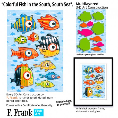 """3D Grafik:  """"Colorful Fish in the South, South Sea"""""""