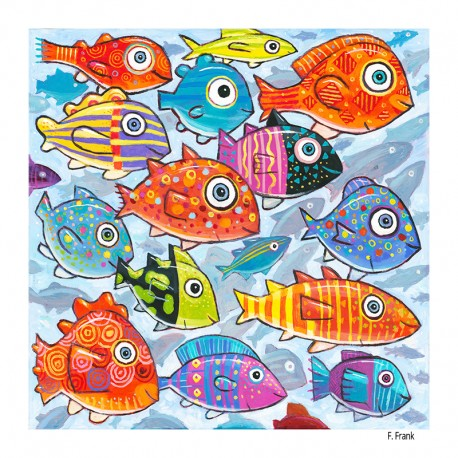 """Gemälde: """"Colorful Fish in the South Southsea"""""""