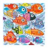 """Painting: """"Colorful Fish in the South Southsea"""""""