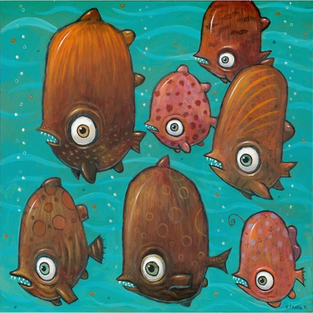 "Painting: ""Wild Piranhas of the Amazon"""