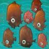 "Painting: ""Wild Piranhas of the Amazon"""