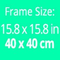 Frame size: 15.8 x 15.8 inches / 40 x 40 cm. Picture size: 10.2 x 10.2 inches / 26 X 26 cm