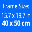 Rahmengröße: 40 x 50 cm.