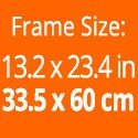 Rahmengröße: 33.5 x 60 cm.